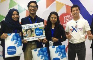Tim mahasiswa FEB UGM juara XFest Competition di Malang, Jawa Timur, Jumat (28/10/2016). (foto : istimewa)